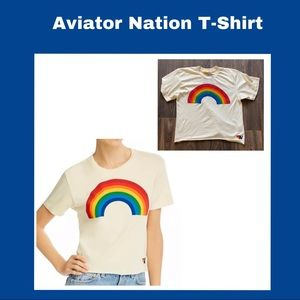 Aviator Nation Rainbow 🌈 Tee Shirt size Small